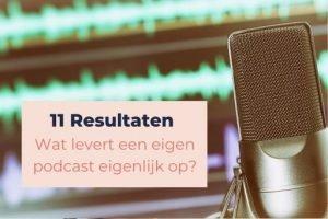 Wat levert een eigen podcast eigenlijk op? 11 resultaten